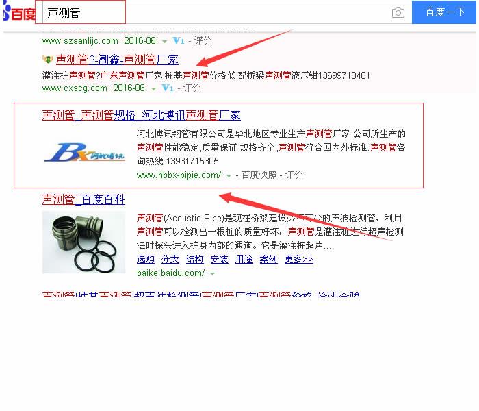 网站优化seo外包案例,seo案例,声测管优化案例